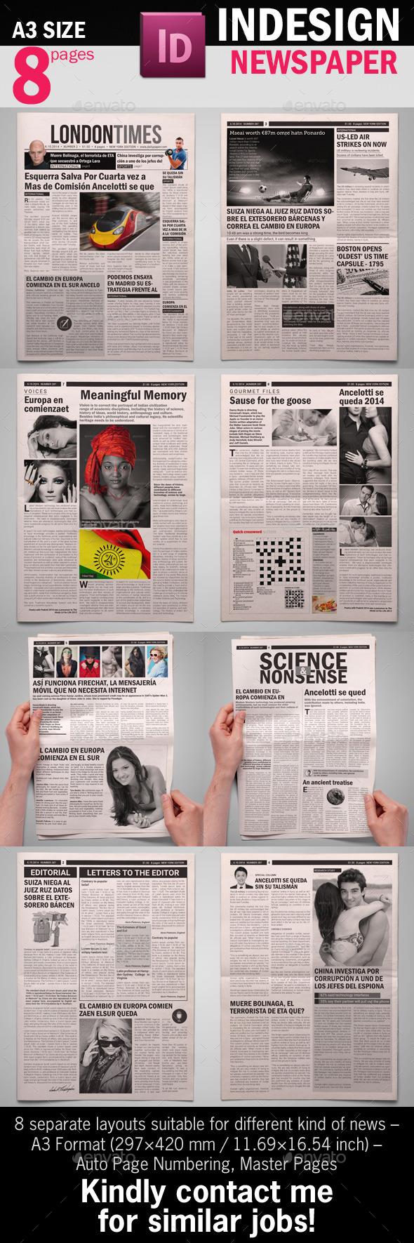 BW Newspaper Template - Newsletters Print Templates
