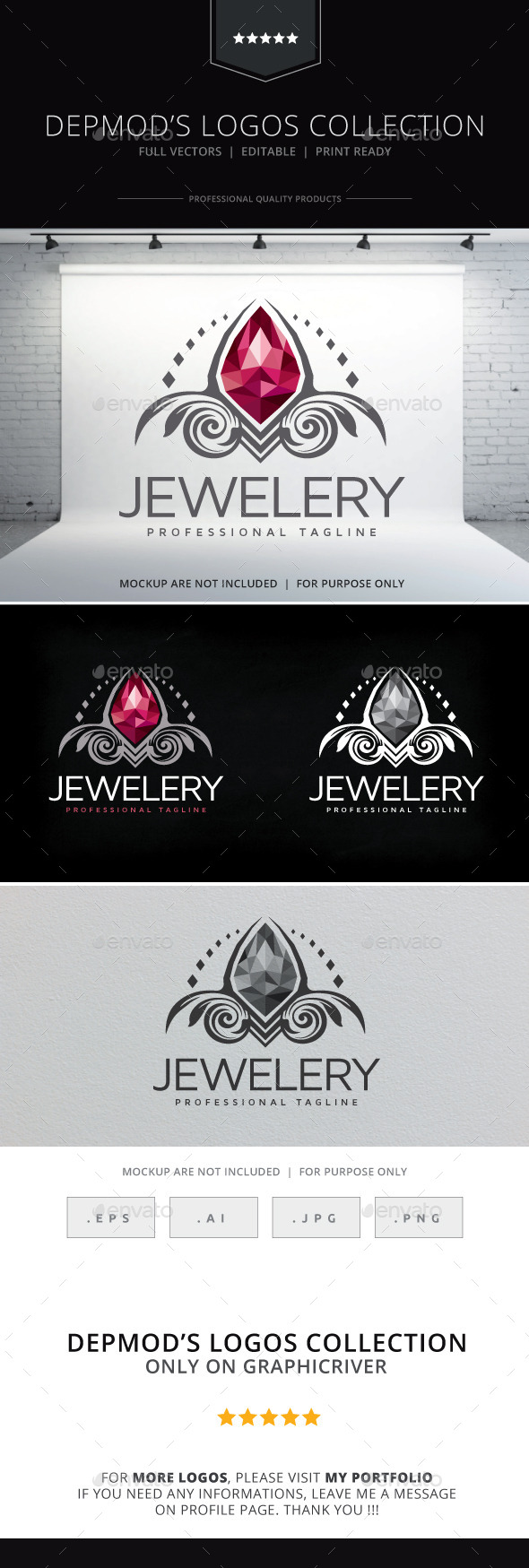 Jewelery Logo - Crests Logo Templates