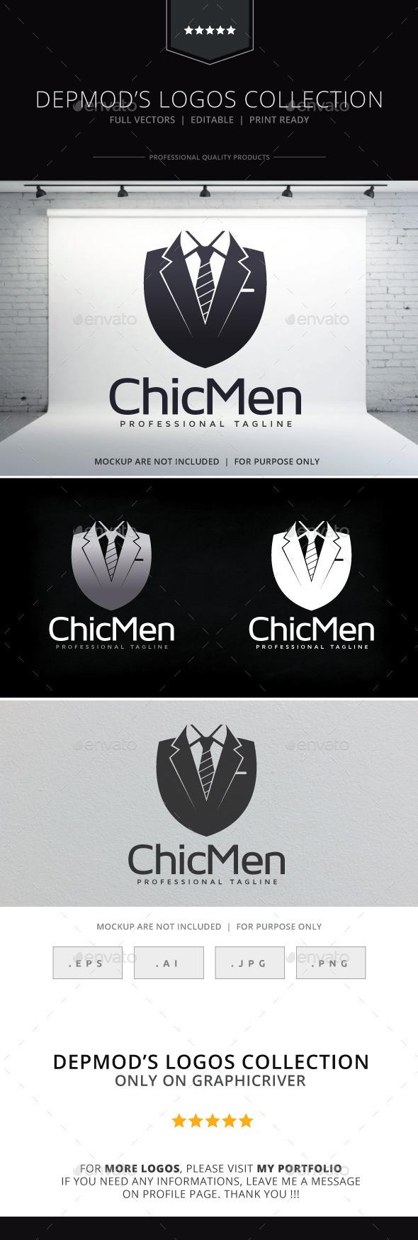 Chic Men Logo - Objects Logo Templates