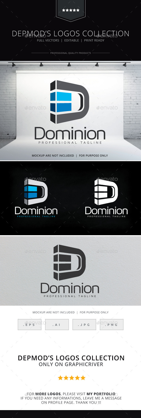Dominion Logo - Letters Logo Templates