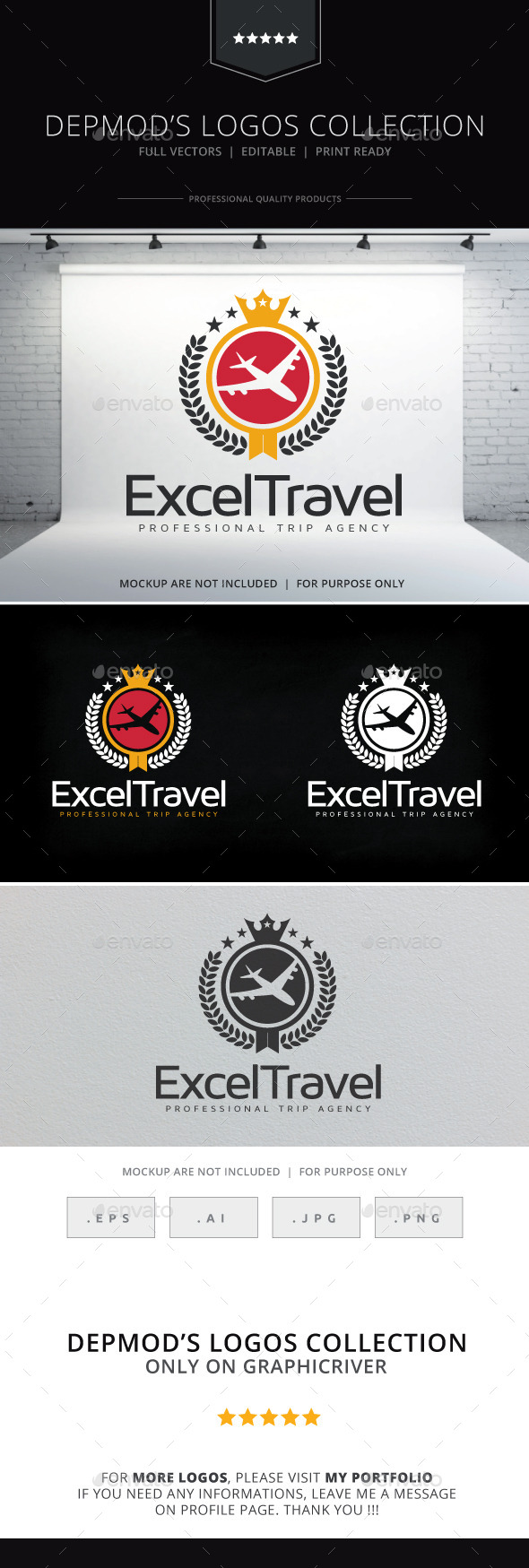 Excel Travel Logo - Crests Logo Templates