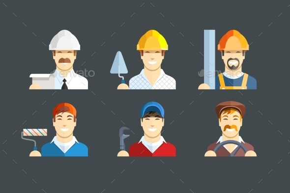Building Occupations - People Characters