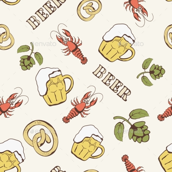 Beer Pattern - Backgrounds Decorative