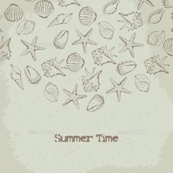 Shells Background - Backgrounds Decorative
