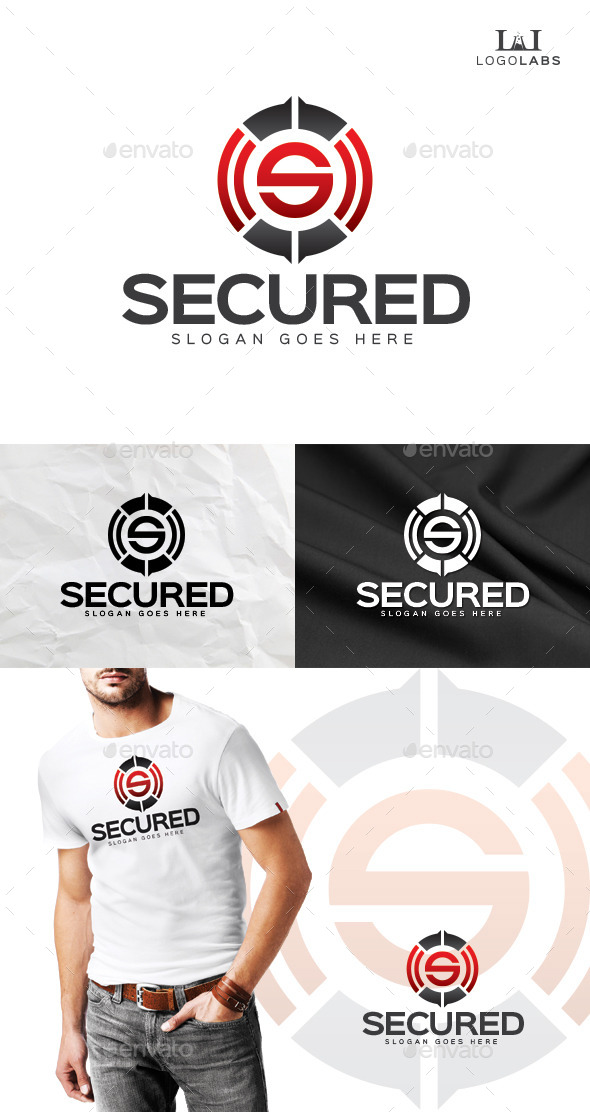Secured - Letter S Logo - Letters Logo Templates