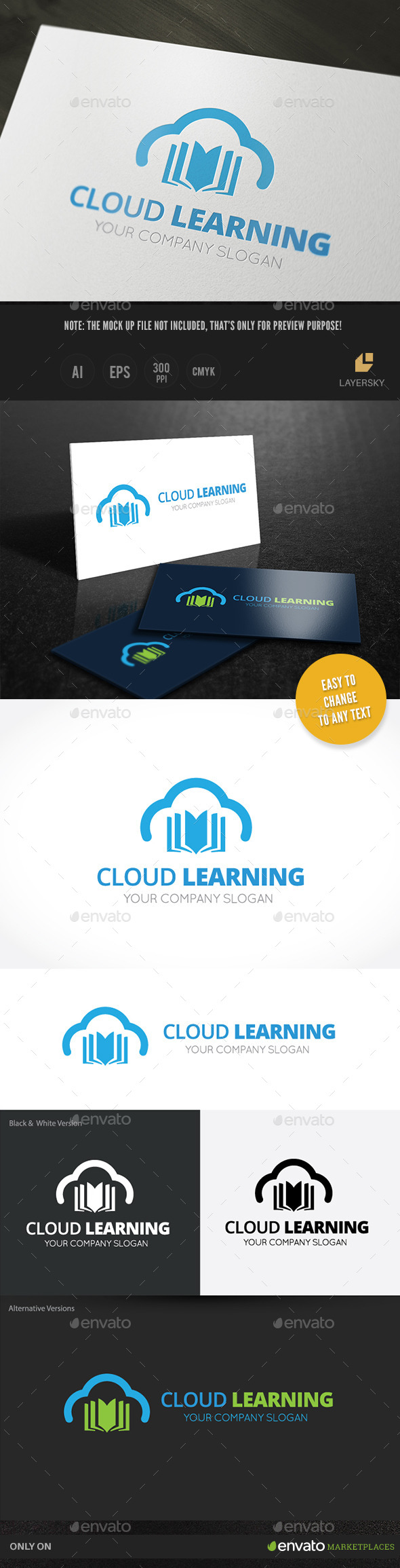 Cloud Learning - Nature Logo Templates