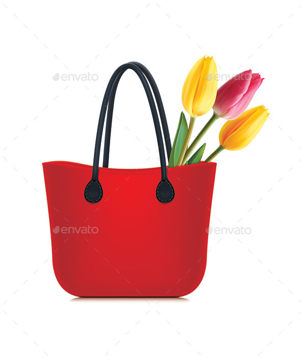 Tulips in Shopping Bag - Flowers & Plants Nature