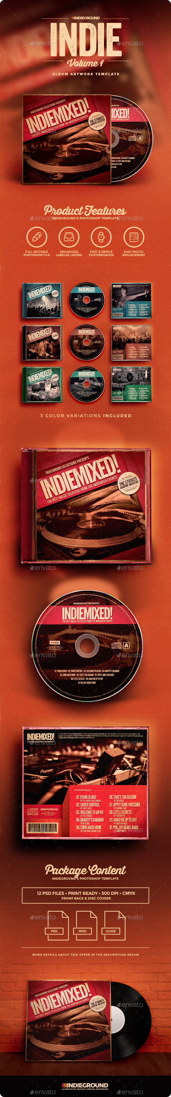 Indie CD Album Artwork - CD & DVD Artwork Print Templates