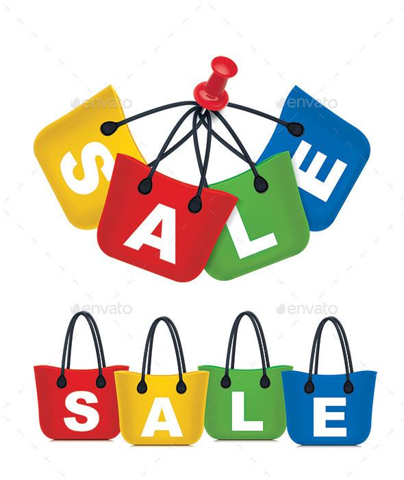 Sale Shopping Bag Set - Commercial / Shopping Conceptual