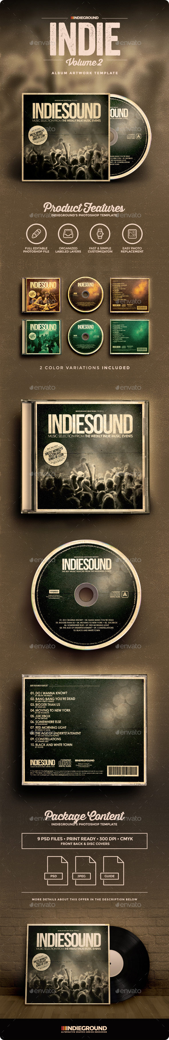 Indie CD Album Artwork Vol. 2 - CD & DVD Artwork Print Templates