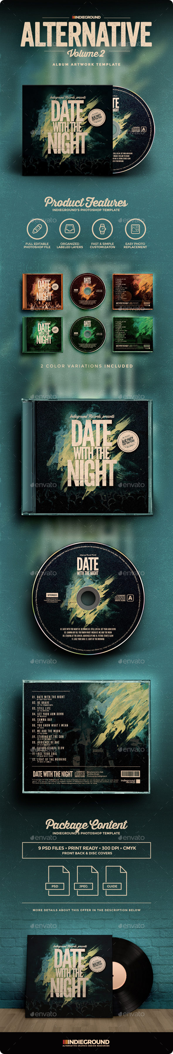 Alternative CD Album Artwork Vol. 2 - CD & DVD Artwork Print Templates