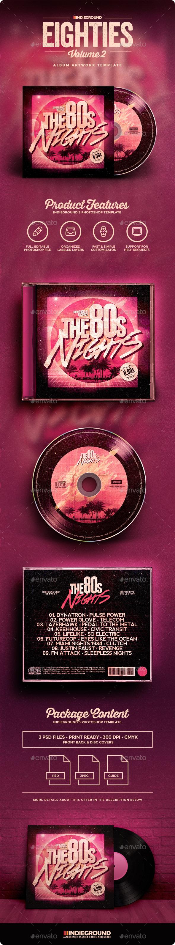 80s CD Album Artwork Vol. 2 - CD & DVD Artwork Print Templates