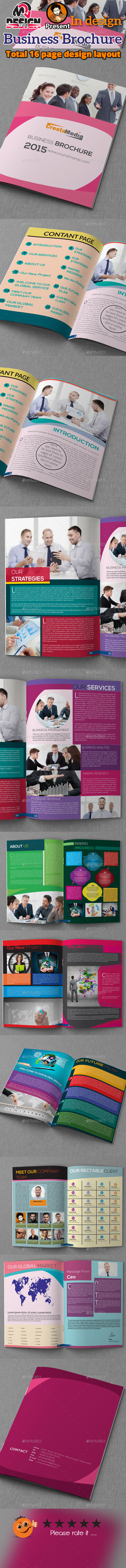 16 Page Business Brochure - Brochures Print Templates