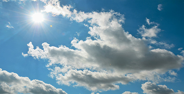 Clouds In The Blue Sky And Sun By Yuras1