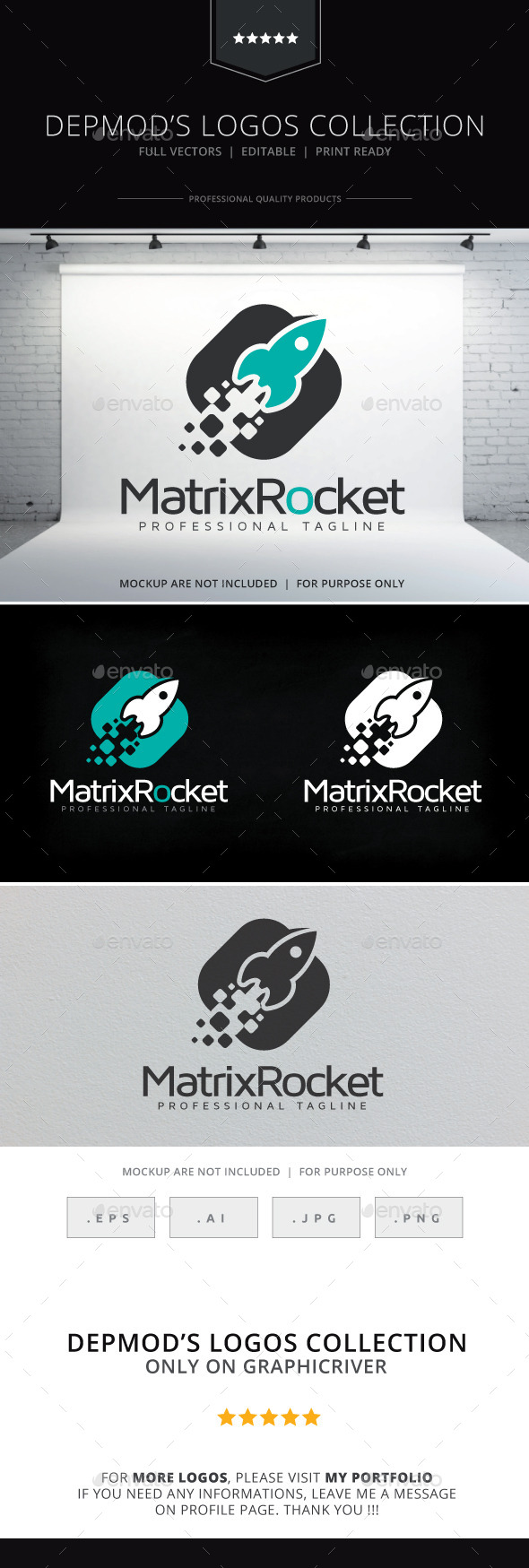 Matrix Rocket Logo - Objects Logo Templates