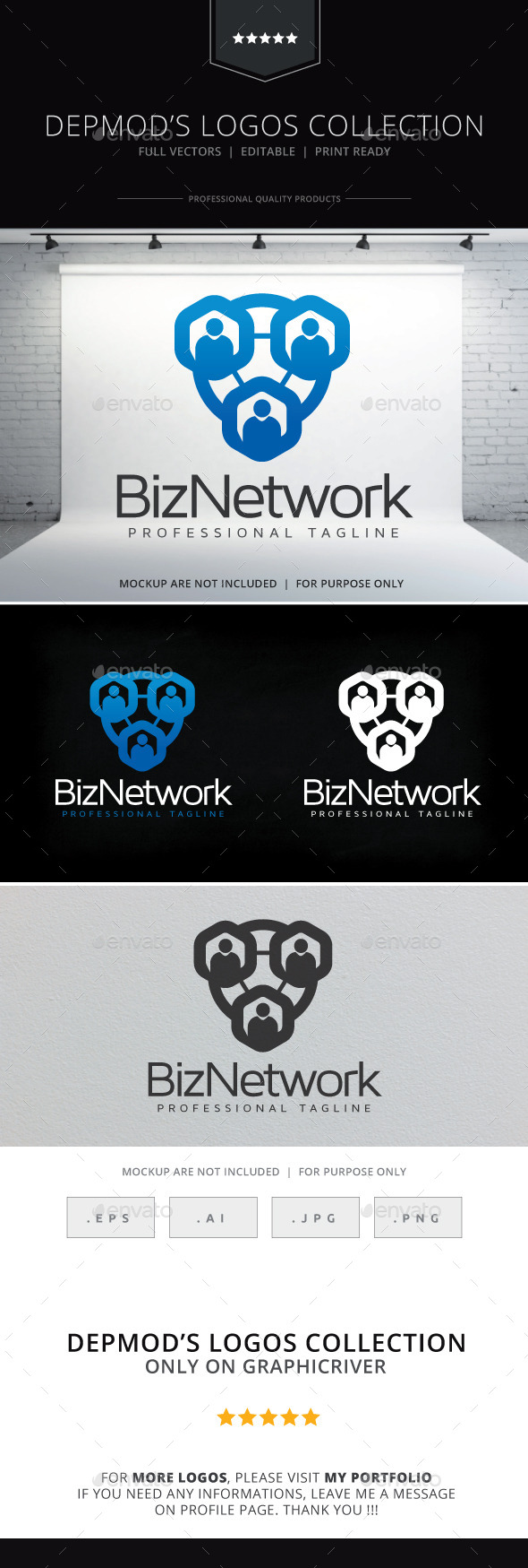 Biz Network Logo - Humans Logo Templates