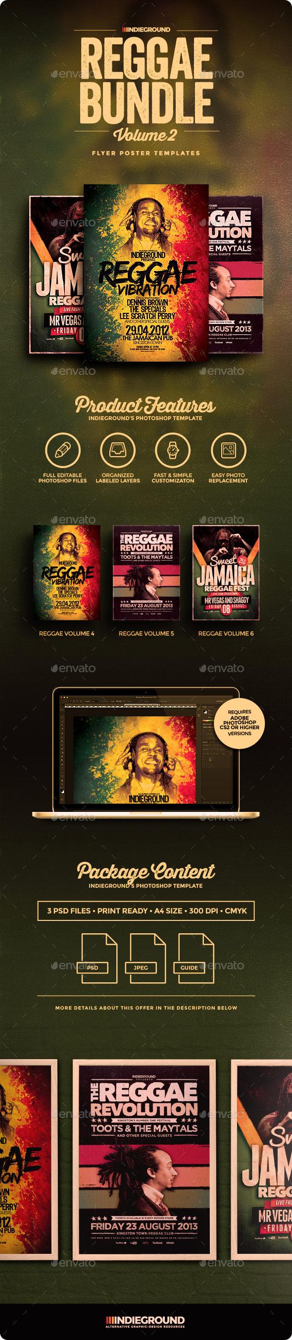 Reggae Flyer/Poster Bundle Vol. 4-6 - Events Flyers