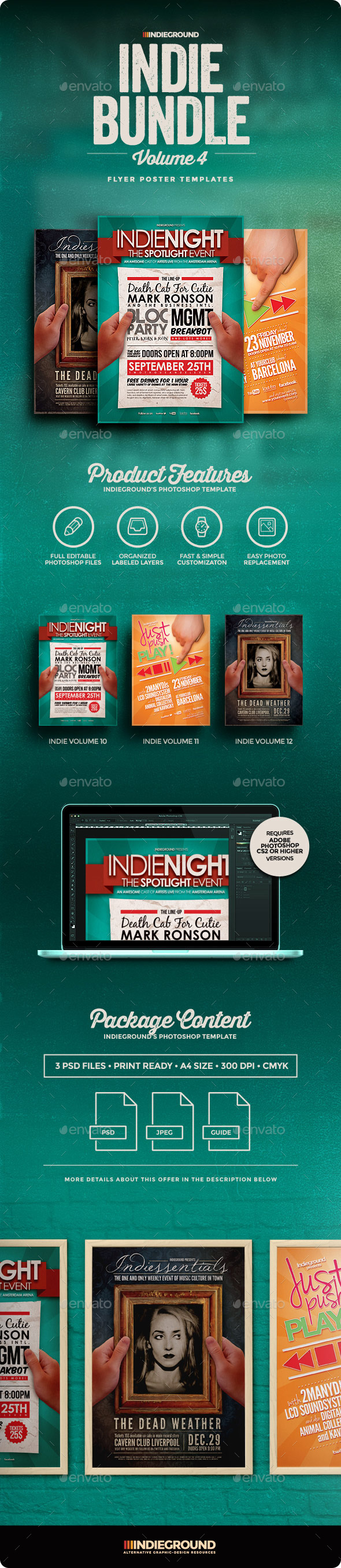 Indie Flyer/Poster Bundle Vol. 10-12 - Clubs & Parties Events