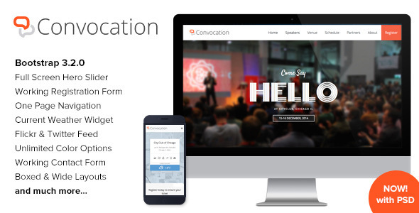 Convocation – Event and Conference Landing Page
