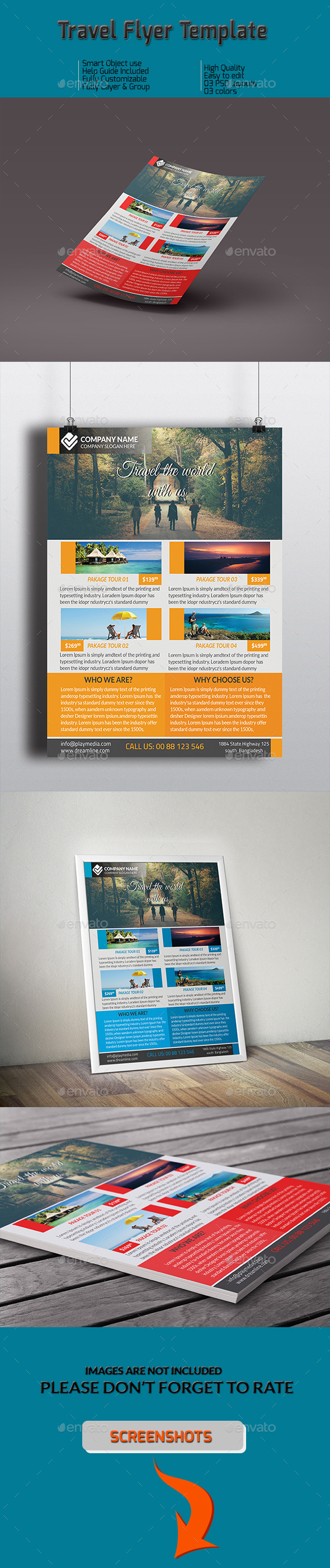 Travel  Flyer Template - Commerce Flyers