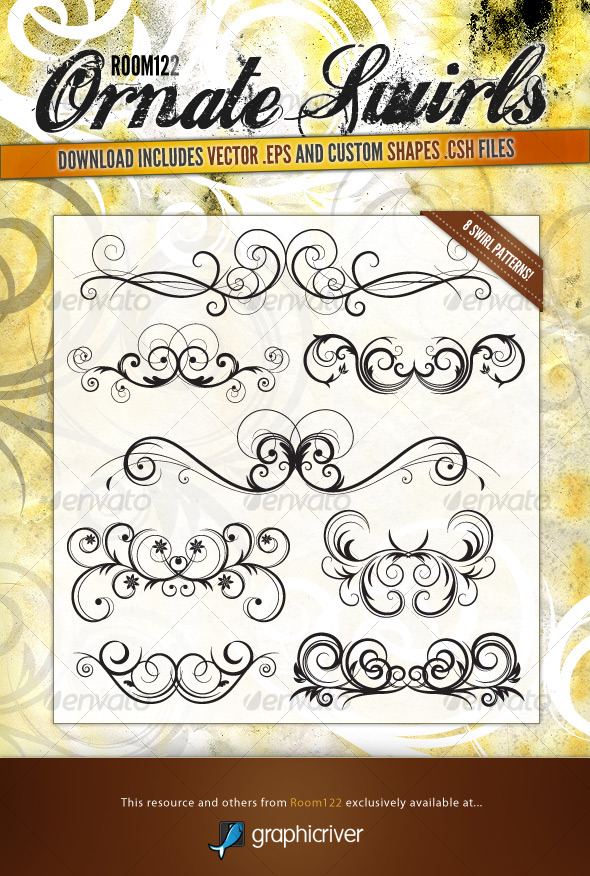 Ornate Vector Swirls - Flourishes / Swirls Decorative
