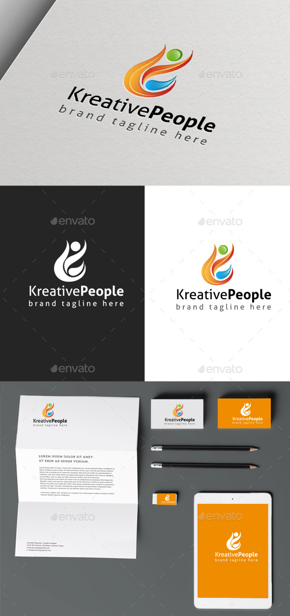 Creative People - Humans Logo Templates