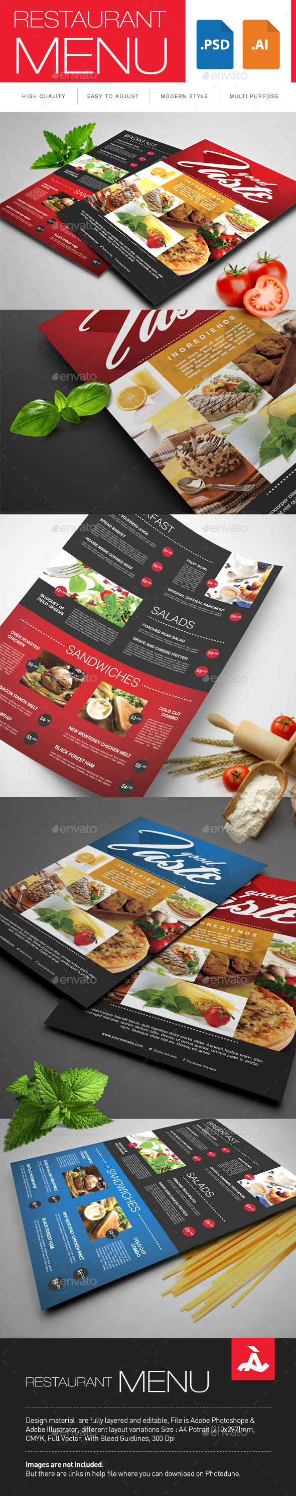 Restaurant Menu - Restaurant Flyers