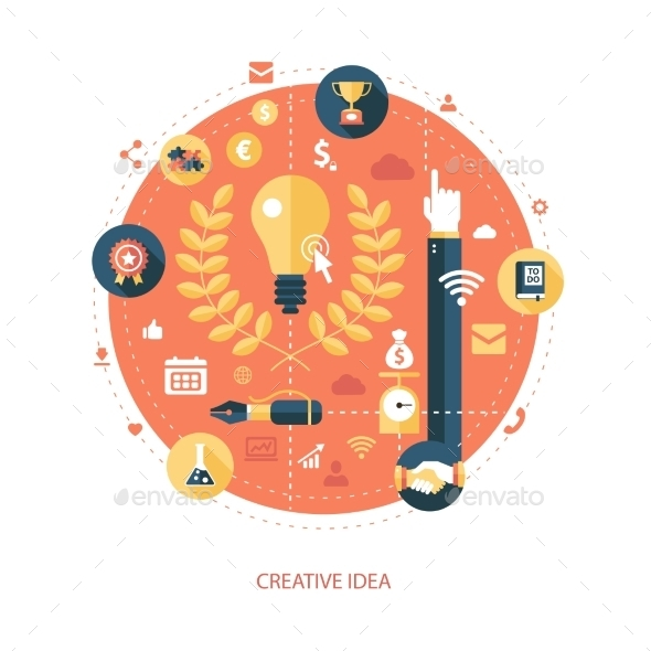 Creativity Icon - Concepts Business