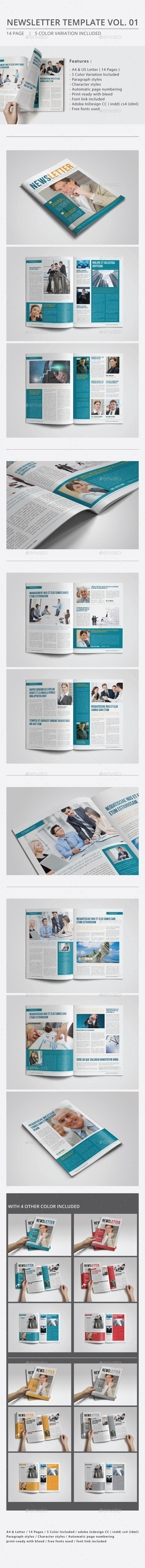 Newsletter Template Vol.01 - Newsletters Print Templates