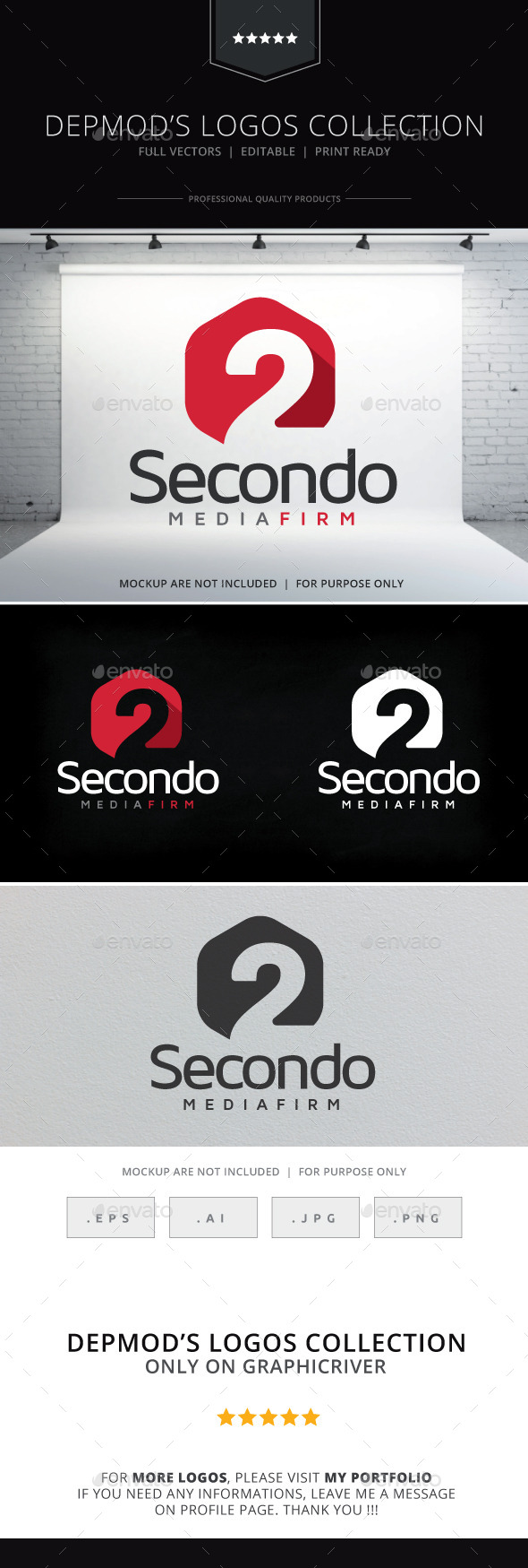 Secondo Logo - Numbers Logo Templates