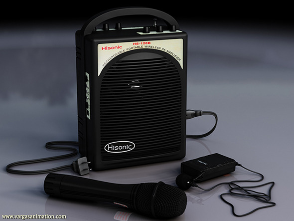 3D Wireless Microphone and Speaker System - 3DOcean Item for Sale