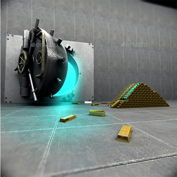 Bank Strongbox - 3D Backgrounds