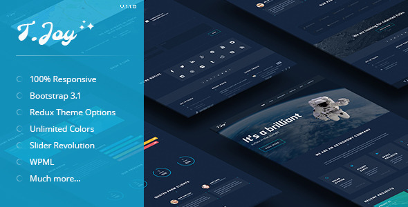 T.Joy – Astronomy WordPress Theme
