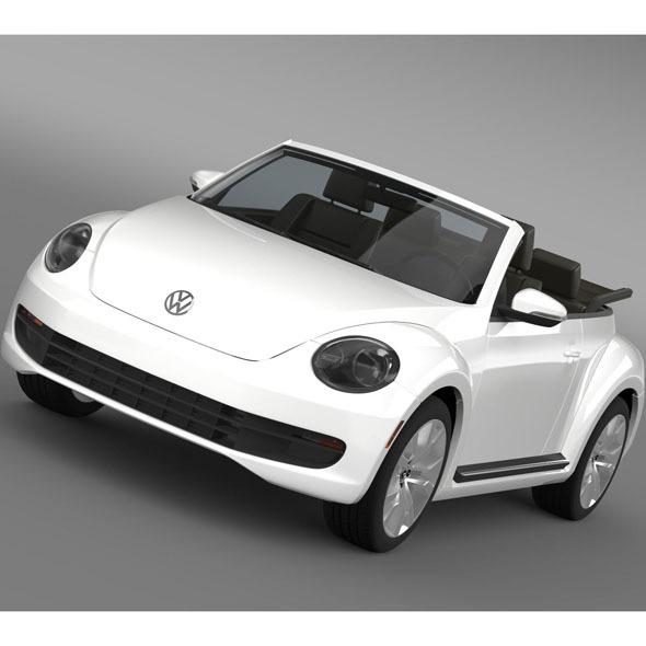 VW Beetle TDI Cabrio 2014 - 3DOcean Item for Sale