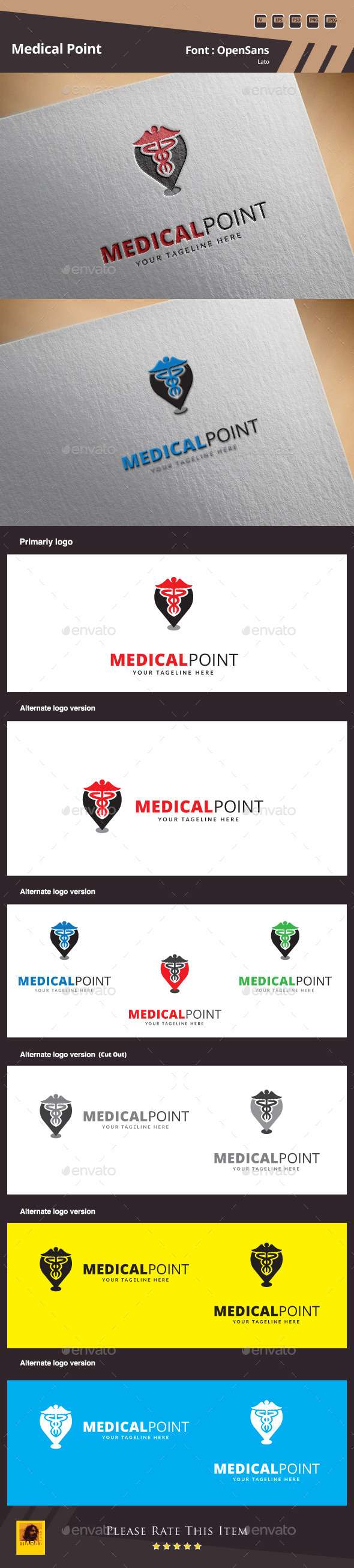 Medical Point Logo Template - Symbols Logo Templates