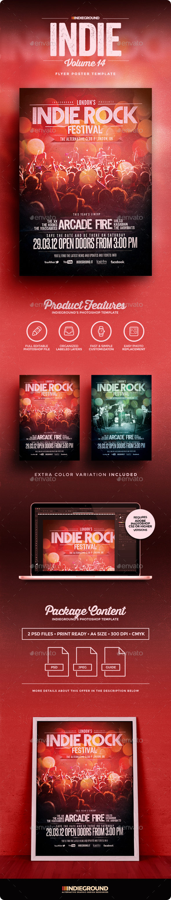 Indie Flyer/Poster Vol. 14 - Clubs & Parties Events