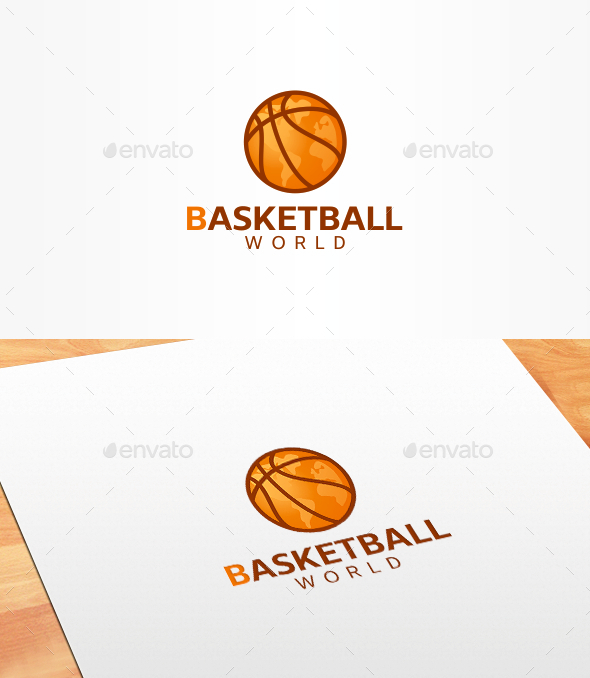 Basketball World Logo Template - Symbols Logo Templates