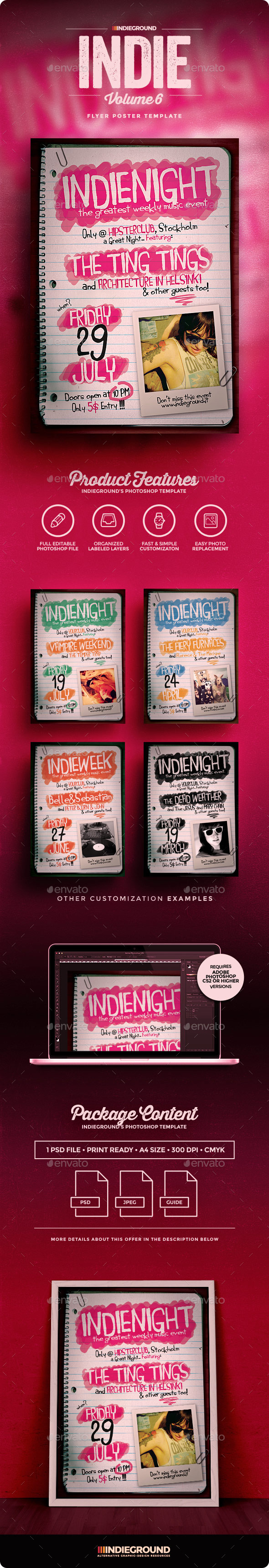 Indie Flyer/Poster Vol. 6 - Clubs & Parties Events