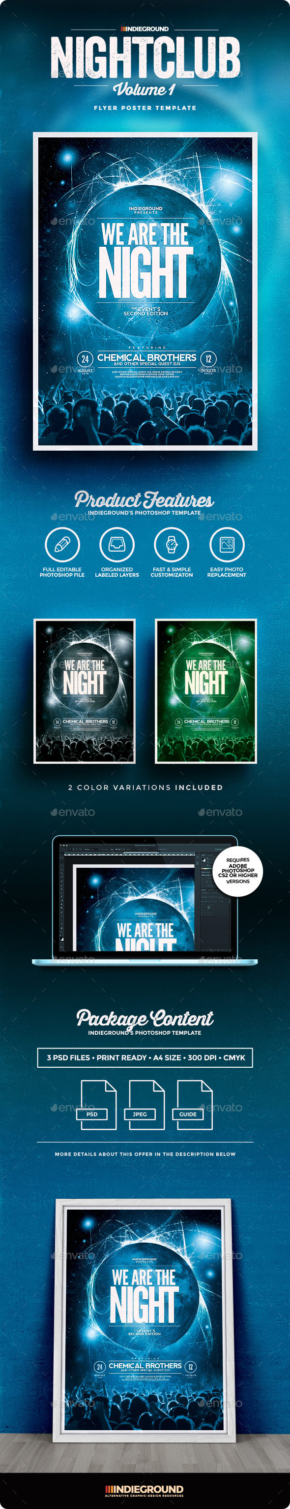Nightclub Flyer/Poster - Clubs & Parties Events