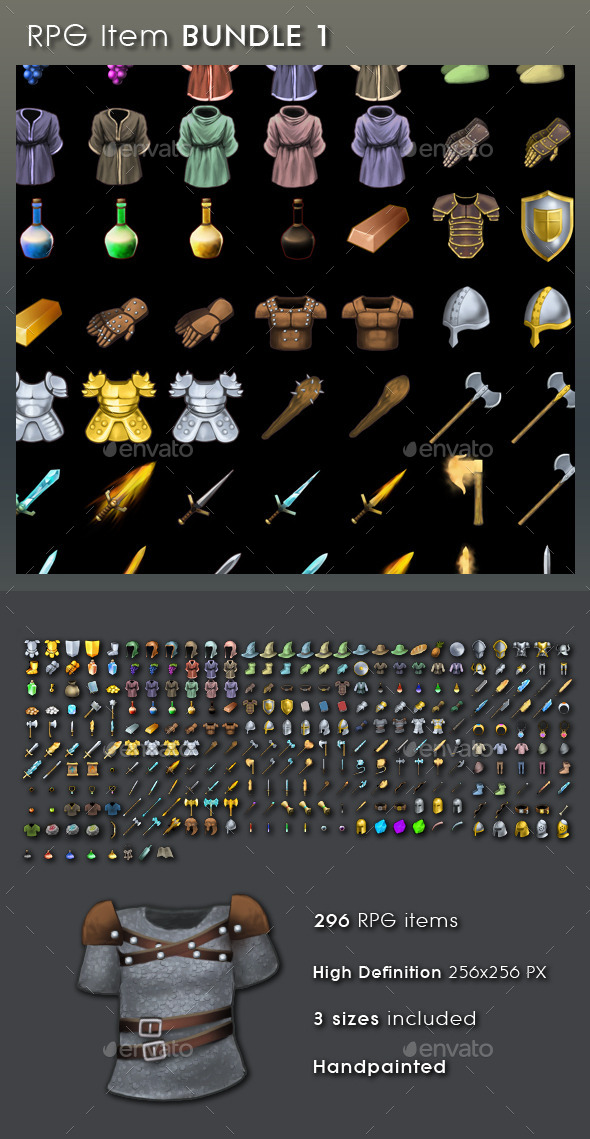 RPG Item Bundle 1 - Miscellaneous Game Assets