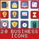 20 Business Flat Icons - GraphicRiver Item for Sale