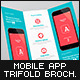 Mobile App Trifold Brochure vol.1 - GraphicRiver Item for Sale