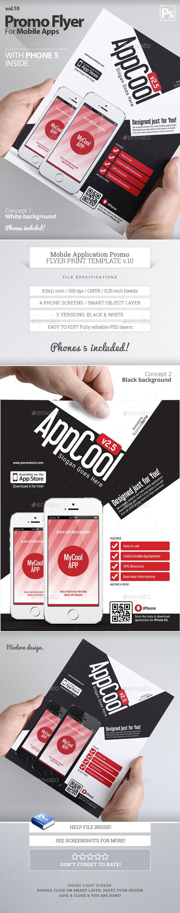 Mobile App Flyers 10 - Flyers Print Templates
