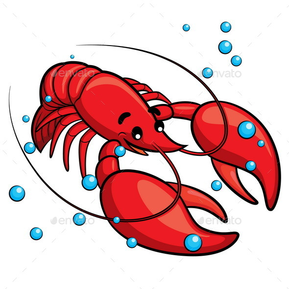 Lobster Cartoon - Animals Characters