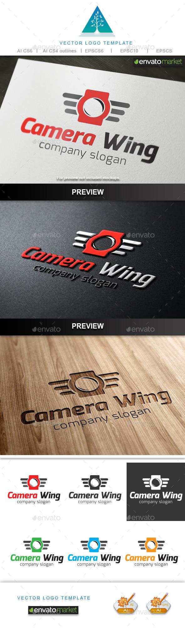 Camera Wing Logo - Objects Logo Templates