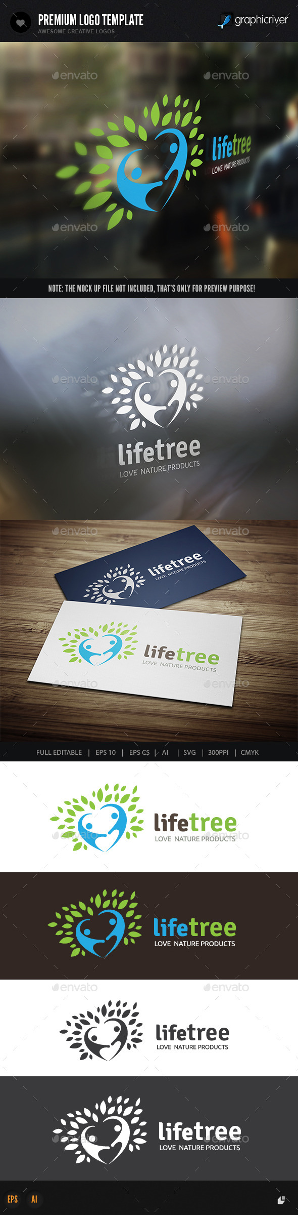 Life Tree - Nature Logo Templates