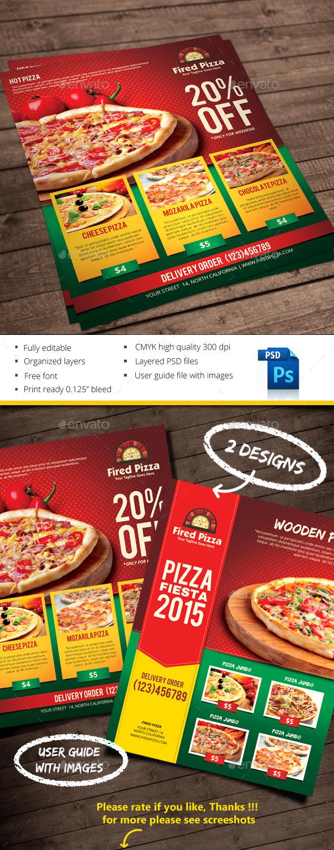 Pizza - Restaurant Flyers