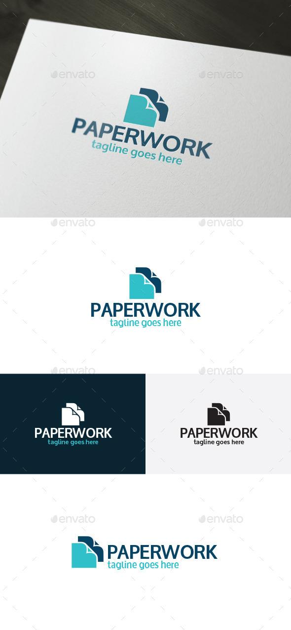 Paper Work Logo - Logo Templates