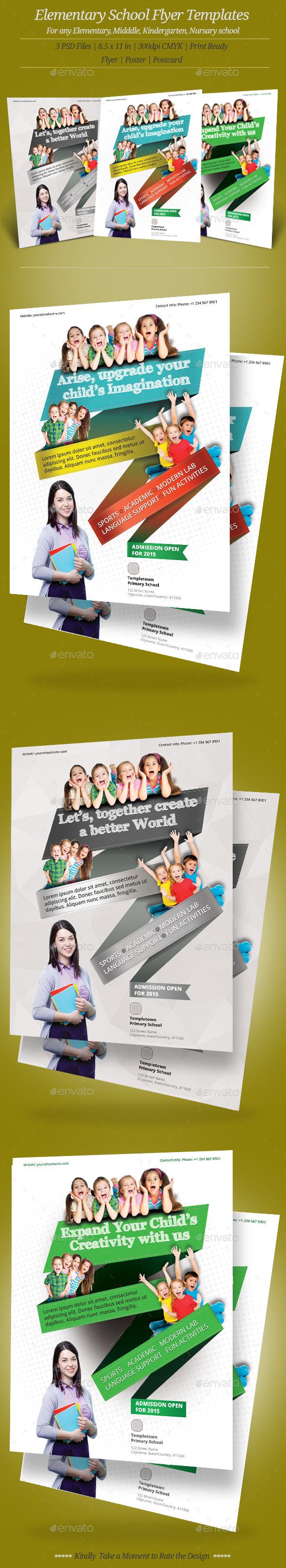 Elementary School Flyer Templates - Flyers Print Templates