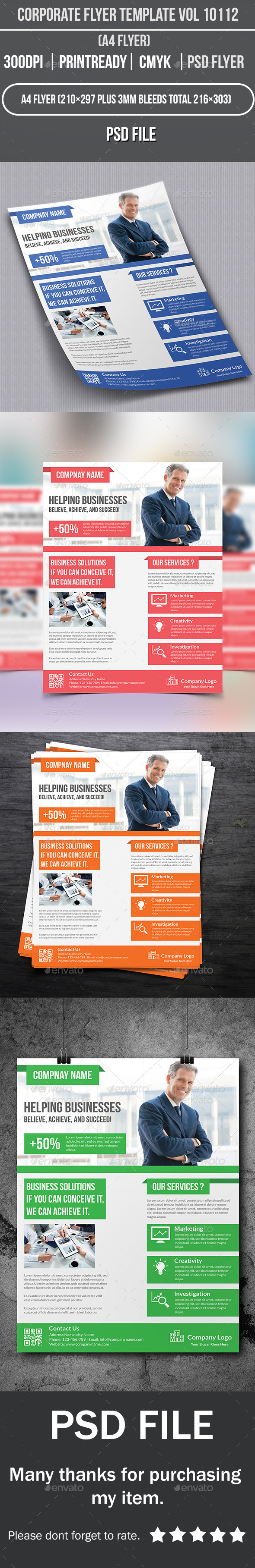 Corporate Flyer Template Vol 10112 - Corporate Flyers